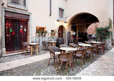 Street Restaurant  In Verona, Italy