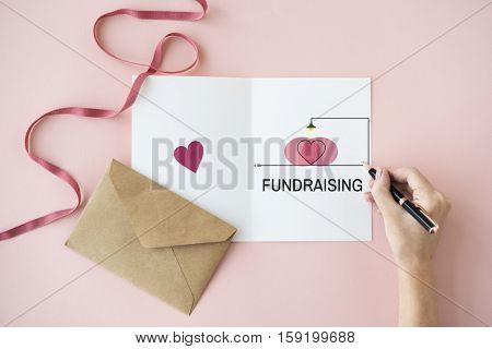 Fundraising Support Heart Icon Concept
