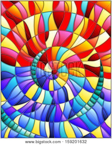 Abstract mosaic image colorful tiles arranged in a spiral