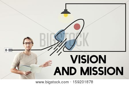 Vision Mission Planning Business Strategy Plan Concept