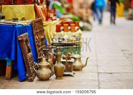 Teapots On Moroccan Market