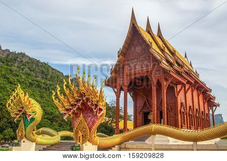 Naga statue in the temple of Thailand