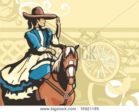 Western Cowgirl Background Series.