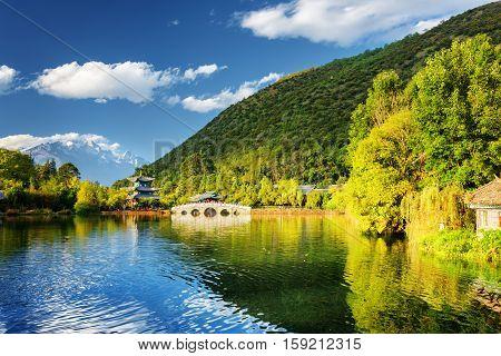 Beautiful View Of The Black Dragon Pool, Lijiang, China