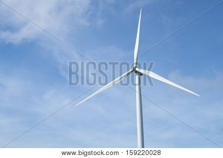 Windmill close up, Environmental and technology concept.