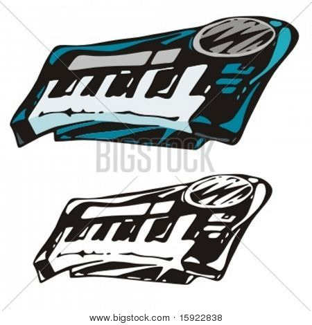 Music Instrument Series. Vector illustration of a synthesizer.