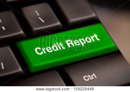 credit report free access loan check score good debt form document display concept - stock image