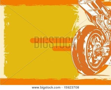 Série de fundo Grunge da motocicleta.