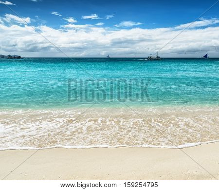 Beautiful Tropical Beach And Blue Sky