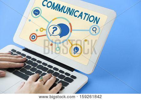 Communication Service Help Desk Concept/