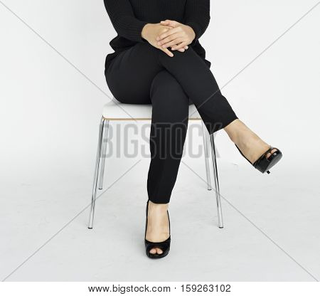Businesswoman Expression Studio Style Concept