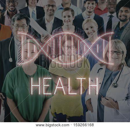 Health DNA Structure Symbol Concept