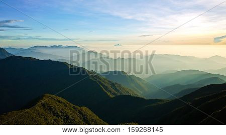 Mt. Pulag, the highest mountain of Luzon, Philippines. Also known as