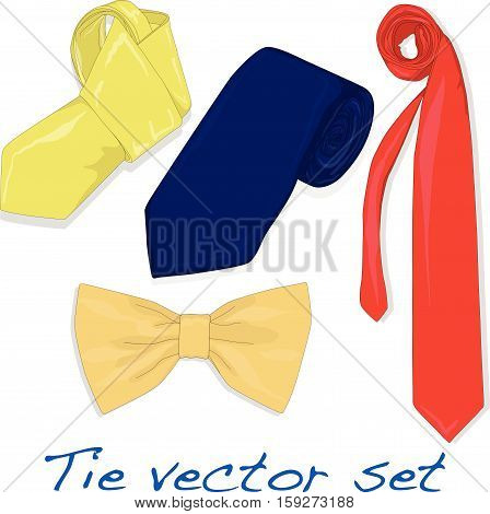 Set of Vector Ties and Bow Tie.