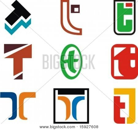 Alphabetical Logo Design Concepts. Letter T. Check my portfolio for more of this series.