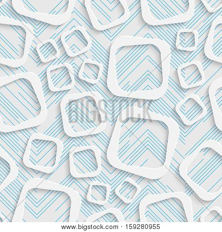Seamless Square Pattern. Abstract Web Background. Modern Stylize Wallpaper. 3d Tech Design. Wrapping Paper Texture