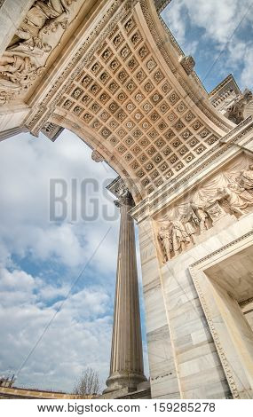 Arco della Pace Porta Sempione in Milan, Italy