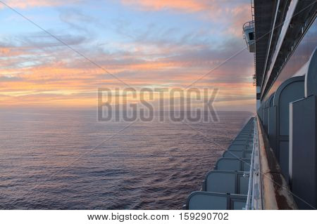 Sunset From Ship