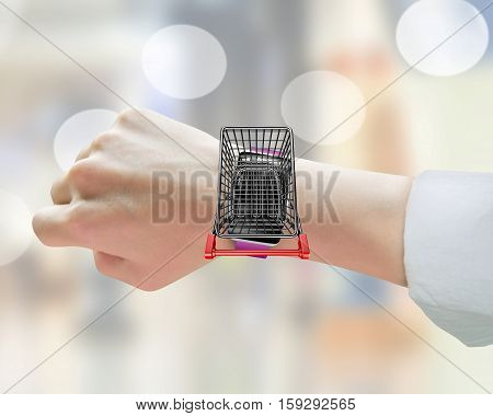 On Line Shopping Via Smart Watch