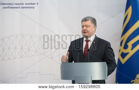 Petro Poroshenko At Chornobyl Nuclear Power Plant