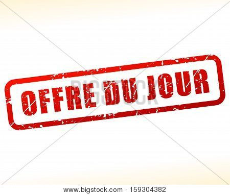 Illustration of day offer buffered on white background