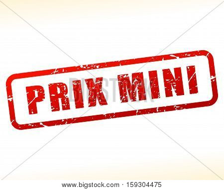 Illustration of small price buffered on white background