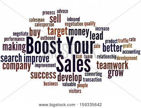 Boost Your Sales, Word Cloud Concept 2