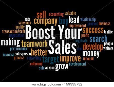 Boost Your Sales, Word Cloud Concept 3