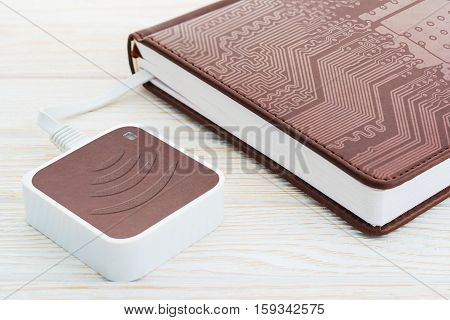 E-book And Wi-fi Router. For Internet Data Transfer.