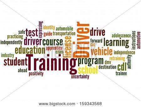Driver Training, Word Cloud Concept 4