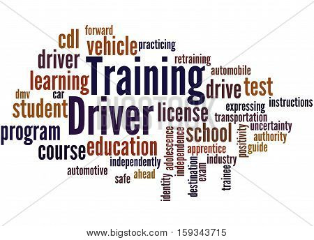 Driver Training, Word Cloud Concept 7