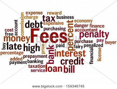 Fees, Word Cloud Concept