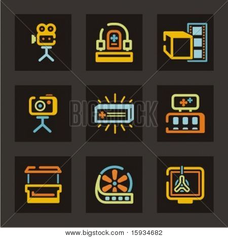 Advertising icons set. Check my portfolio for much more of this series as well as thousands of similar and other great vector items.