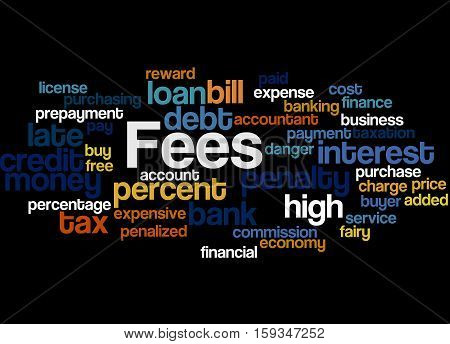 Fees, Word Cloud Concept 7
