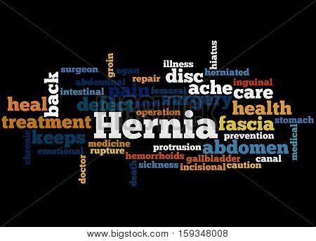 Hernia, Word Cloud Concept 4