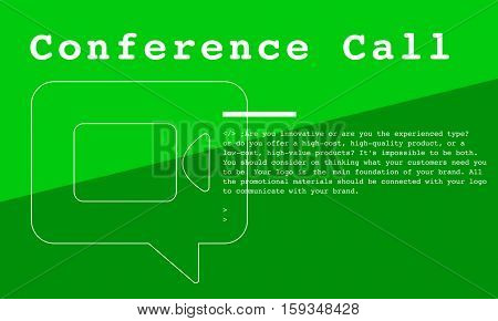 Communication Connection Teleconferrence Network Concept
