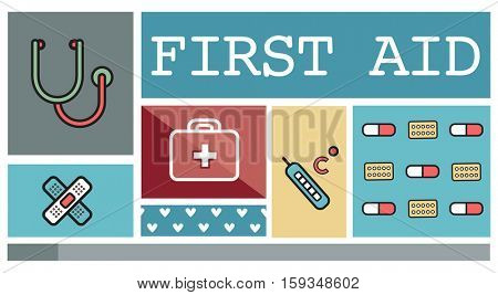 First Aid Kit Health Concept