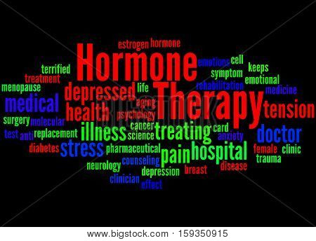 Hormone Therapy, Word Cloud Concept 4