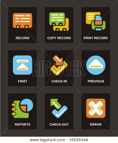 Color Icon Series. Database icons set. Check my portfolio for much more of this series.