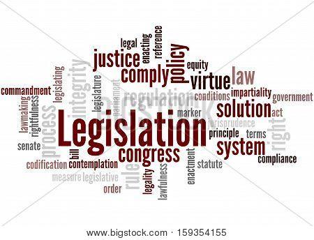 Legislation, Word Cloud Concept 2