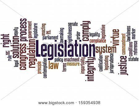 Legislation, Word Cloud Concept 8