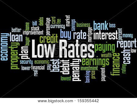 Low Rates, Word Cloud Concept 5