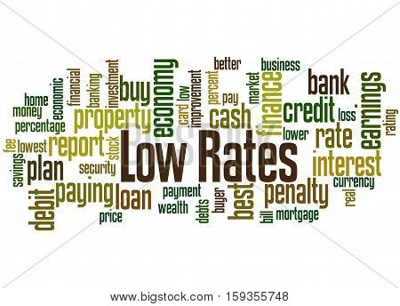 Low Rates, Word Cloud Concept 8