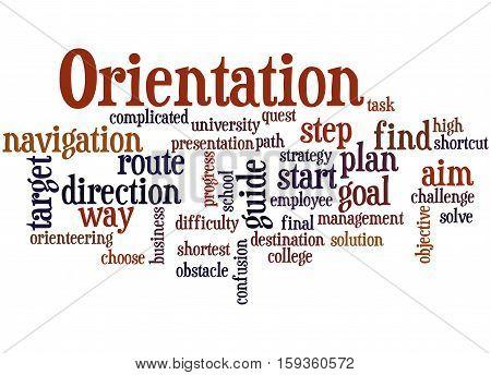 Orientation, Word Cloud Concept