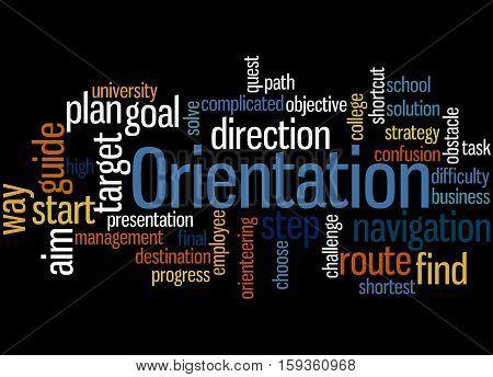 Orientation, Word Cloud Concept 4