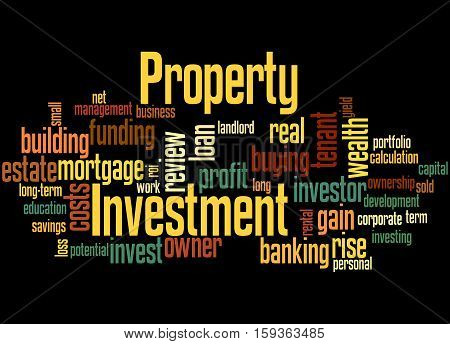 Property Investment, Word Cloud Concept 3