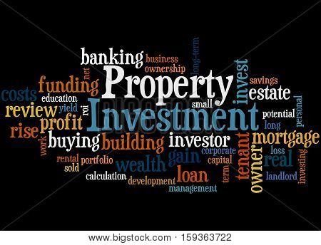 Property Investment, Word Cloud Concept 5