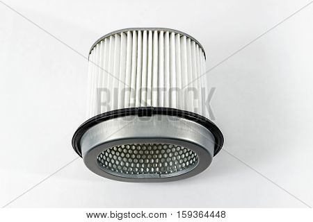 Car air filter. Isolated on white background.