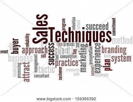 Sales Techniques, Word Cloud Concept 3
