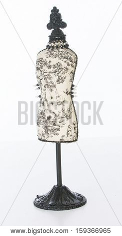 dressmakers mannequin of white background